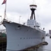 HMS Caroline Inclined at Belfast
