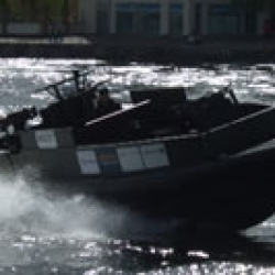 ORC Gunboat exhibited at DSEI