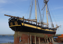 HMS Pickle Visits Holyhead