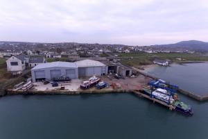 Aerial Photo of Holyhead Marine's Yard