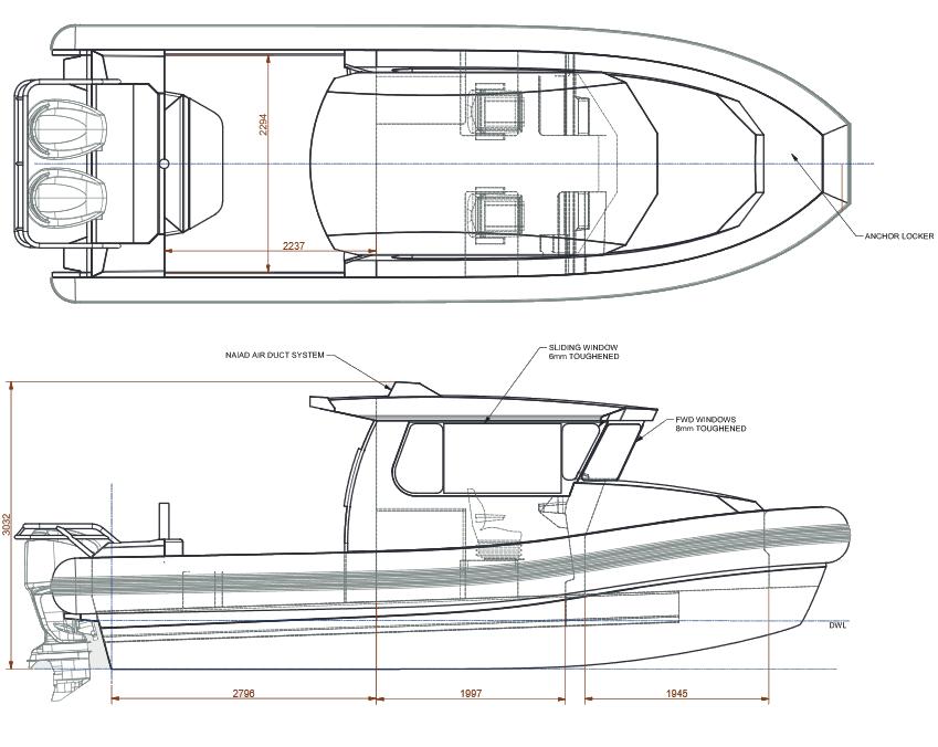Patrol/Rescue 7.5m Cabin Twin Outboard