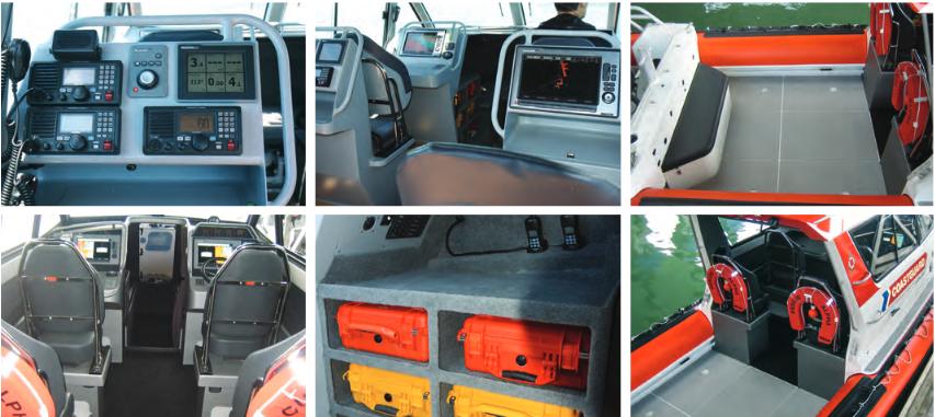 Patrol/Rescue 9.5m Hardtop Twin Outboard interior