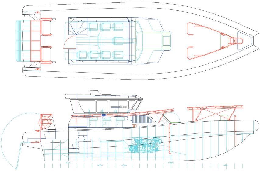 Pilot 14.9m Twin Diesel Shaft Drive layout