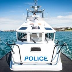 """Police Patrol Boat """"Skye"""" delivery"""