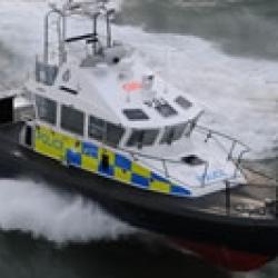 Police Patrol Boat in Clyde Rescue