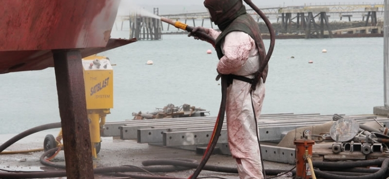 Cleaning Lifeboat Hull